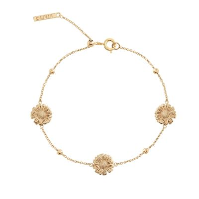 Ladies Olivia Burton Gold Plated Flower Show Daisy Chain Bracelet OBJ16DAB06
