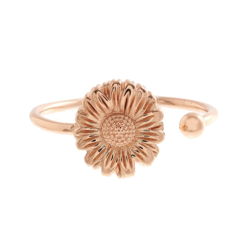 Ladies Olivia Burton Rose Gold Plated Flower Show Daisy Open Ended Ring OBJ16DAR04