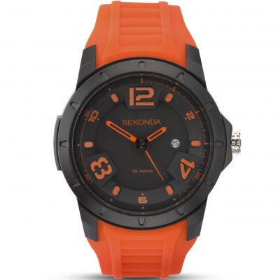 Sekonda Herrenuhr in Orange 1164