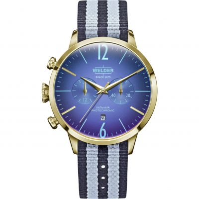 Welder The Moody 42mm Unisexchronograaf Blauw K55/WRC901