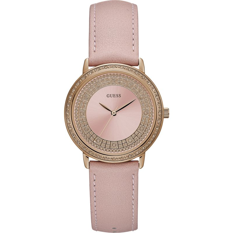 Ladies Guess Exclusive Sparkling Pink Watch