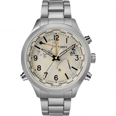 Timex The Waterbury Intelligent Quartz Herenchronograaf Zilver TW2R43400
