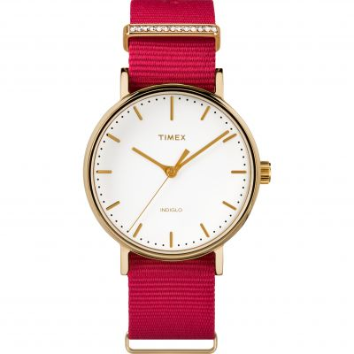 Ladies Timex Fairfield Crystal Bar Watch TW2R48600