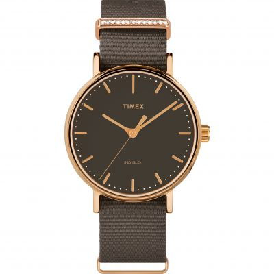 Timex Fairfield Crystal Bar Dameshorloge Bruin TW2R48900