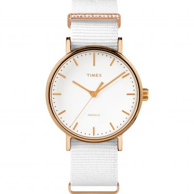 Ladies Timex Fairfield Crystal Bar Watch TW2R49100