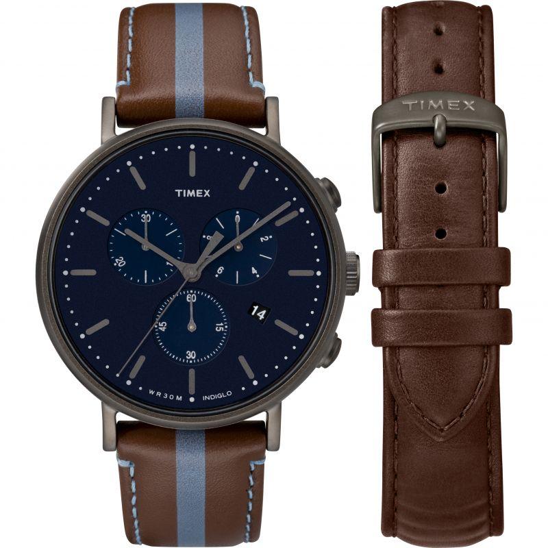 Mens Timex Fairfield Box Set Chronograph Watch