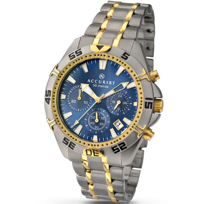 Mens Accurist Titanium Chronograph Watch 7003