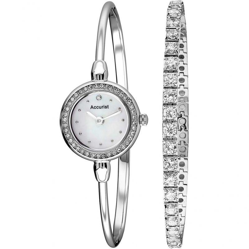 Ladies Accurist Bracelet Gift Set Watch