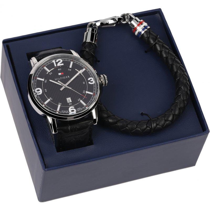 Mens Tommy Hilfiger Bracelet Gift Set Watch