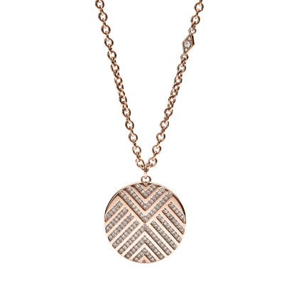 Fossil Dames Necklace Verguld Rose Goud JF02747791