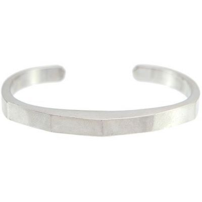 Mens Icon Brand Silver Plated Manta Bangle P1290-BR-SIL