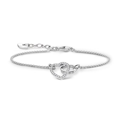 Thomas Sabo Dam Glam & Soul Together Heart Bracelet Sterlingsilver A1648-051-14-L19V
