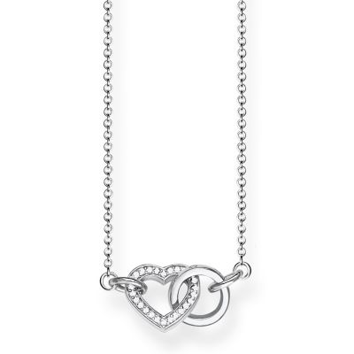 Damen Thomas Sabo Glam & Soul Together Heart Halskette Sterling-Silber KE1643-051-14-L45V