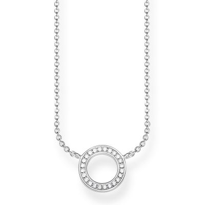 Thomas Sabo Dam Glam & Soul Circle Necklace Sterlingsilver KE1650-051-14-L45V