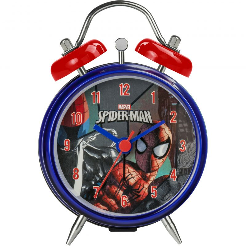 Childrens Character Marvel Spiderman Twin Bell Alarm Clock SPM63
