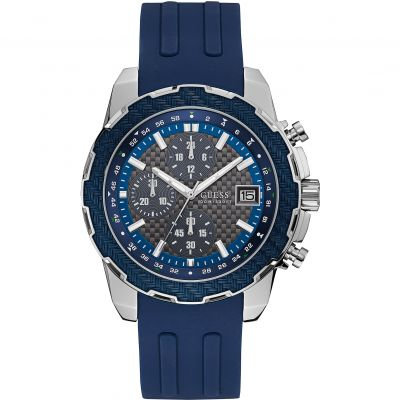 Guess Octane Herenchronograaf Blauw W1047G2