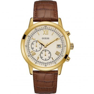 Guess Summit Herenchronograaf Bruin W1000G3