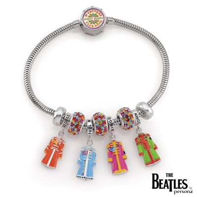 Ladies Persona Sterling Silver The Beatles 50th Anniversary Sgt Pepper Limited Edition Charm Br H15178BM-M
