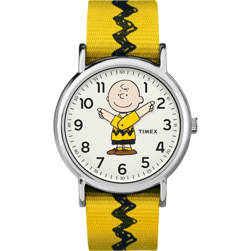 Mens Timex Weekender Timex x Peanuts Charlie Brown Watch TW2R41100