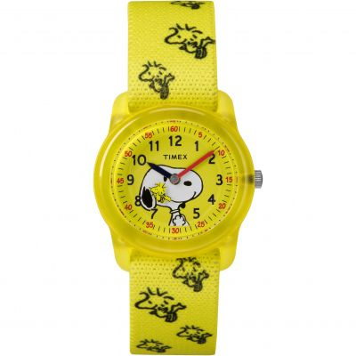 Childrens Timex Kids Analog x Peanuts Snoopy Woodstock Watch TW2R41500