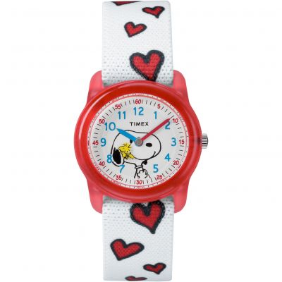 Childrens Timex Kids Analog x Peanuts Snoopy Hearts Watch TW2R41600
