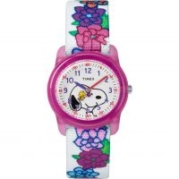 Childrens Timex Kids Analog x Peanuts Snoopy Flowers Watch TW2R41700