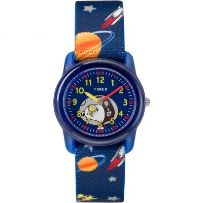 Timex Kids Analog x Peanuts Snoopy Out Of Space Barnklocka Blå TW2R41800