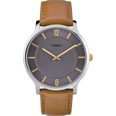 Timex Skyline Slim Herrenuhr in Braun TW2R49700