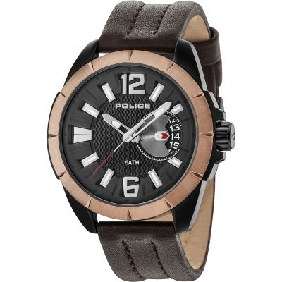 Police Pitcher Herrenuhr in Schwarz 15240JSBBN/02