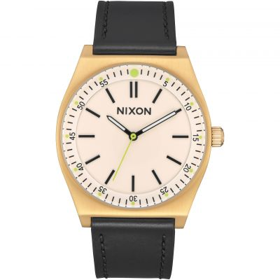 Nixon The Crew Leather Herrklocka Svart A1188-2769