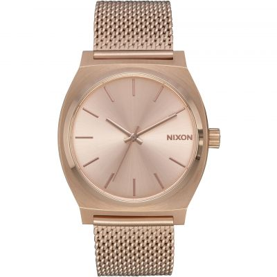 Nixon The Time Teller Milanese Unisex horloge Rose A1187-897