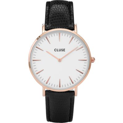 Ladies Cluse La Boheme Rose Gold Lizard Watch CL18037