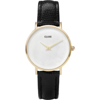 Ladies Cluse Minuit La Perle Gold Lizard Watch CL30048