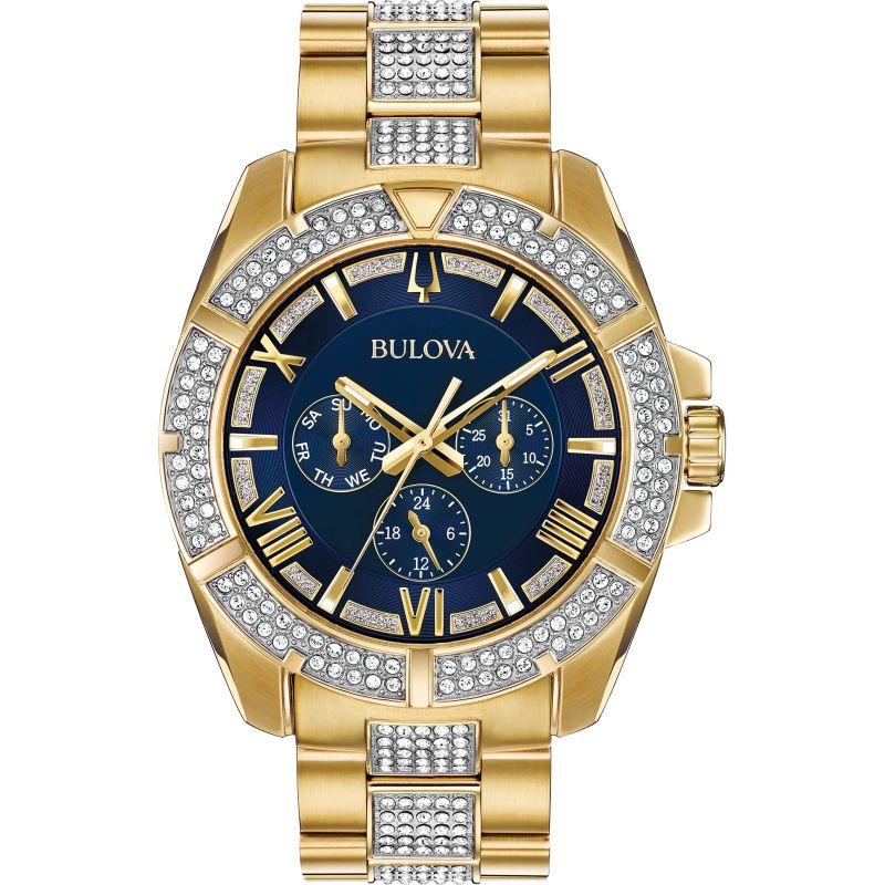 Mens Bulova Crystal Watch