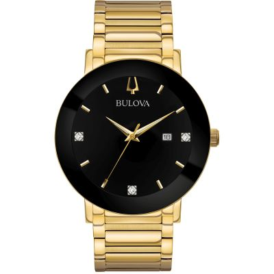 Bulova Modern Damenuhr in Gold 97D116