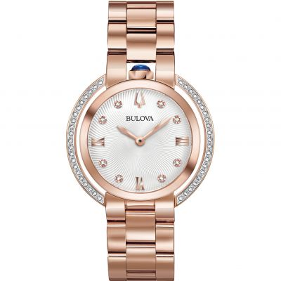 Ladies Bulova Rubaiyat Diamond Watch 98R248