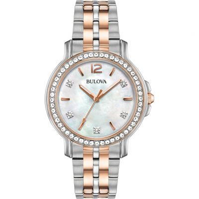 Ladies Bulova Crystal Watch 98L242