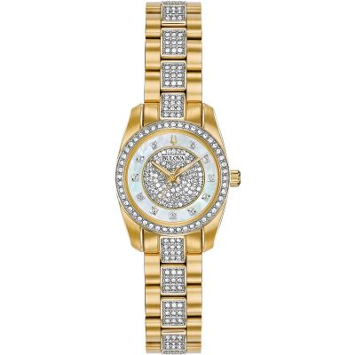 Ladies Bulova Crystal Watch 98L241