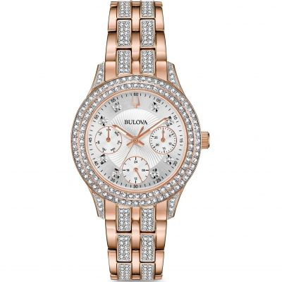 Ladies Bulova Crystal Watch 98N113