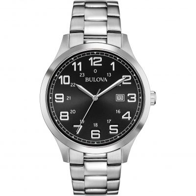 Bulova Dress Herrenuhr in Silber 96B274