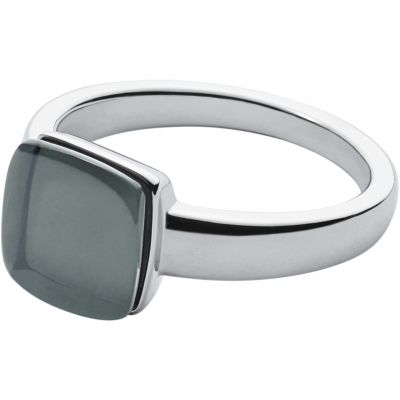Ladies Skagen Silver Plated Size P Sea Glass Ring SKJ0871040508