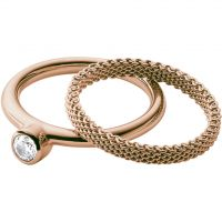 Ladies Skagen Rose Gold Plated Size K Elin Ring SKJ0852791503