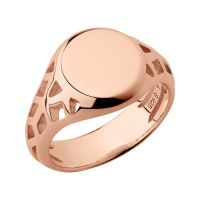 Ladies Links Of London Rose Gold Plated Sterling Silver Timeless Extension Ring Size L 5045.6765