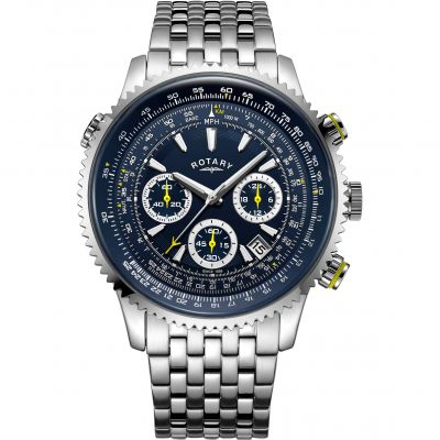 Rotary Exclusive Pilot Herrenchronograph in Silber GB00644/05