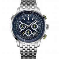 Mens Rotary Exclusive Pilot Chronograph Watch