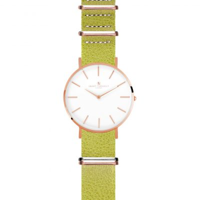 Unisex Smart Turnout Master Watch Lime Embossed Leather Strap Watch STL3/RW/56/LIM