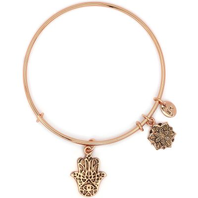 Ladies Chrysalis Rose Gold Plated Bodhi Hasma Hand Expandable Bangle CRBT2201RG