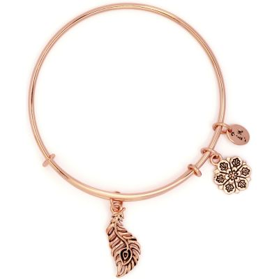 Ladies Chrysalis Rose Gold Plated Bodhi Peacock Expandable Bangle CRBT2211RG