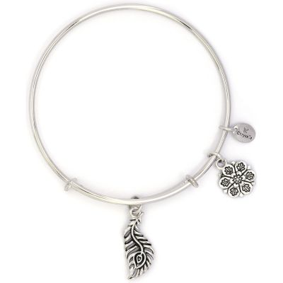 Ladies Chrysalis Silver Plated Bodhi Peacock Expandable Bangle CRBT2211SP