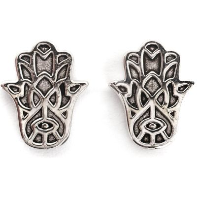 Ladies Chrysalis Silver Plated Bodhi Hasma Hand Earrings CRET0401AS